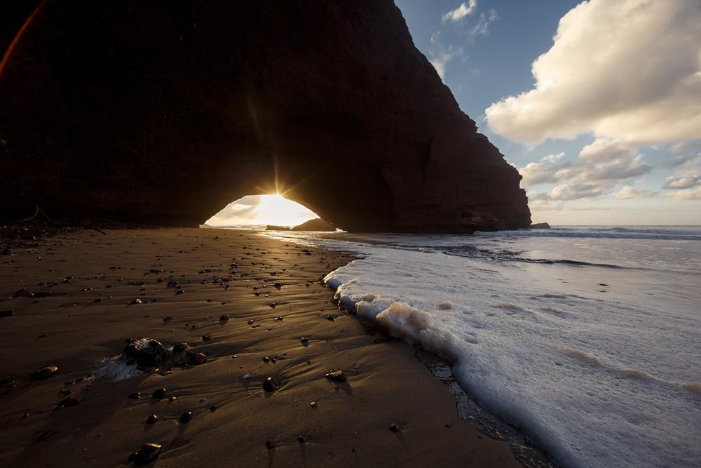 Legzira beach, Atlantic ocean coast in Marocco.